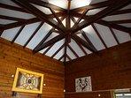 vue plafond salon