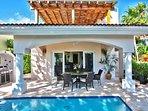 The front of Casa Azul Caribe