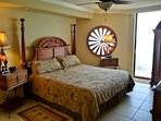 Large Master  Bedroom flatscreen TV DVD and an iPod ceiling fan large closet balcony access