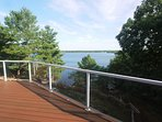 View of the Big Rideau from the deck