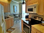 Kitchen is fully equipped with everything you need to cook a gourmet meal or two or just a snack