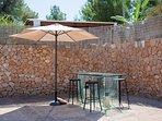 outdoor glass table for wine and dine
