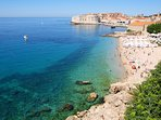 41/43: Most popular Dubrovnik beach Banje is a 7- minute walk from My Sunshine