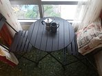 NEW! TWO-SEATER wooden bistro set, ideal as work area or just enjoying a good cuppa