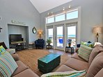 Our beautiful beach home sits directly on the Gulf of Mexico & white sandy beach