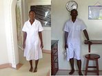Peris our cleaning lady. Daniel our service staff/cook
