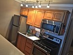 The stainless steel appliances are all new