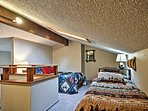 2 Twin beds and a Full-sized bed can be found in the loft.