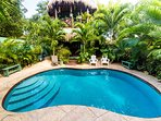Tropical Garden environment with gorgeous pool