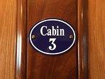 Enamel cabin sign