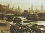 HMS Harpy in c. 1910 moored moored in front of Customs House, Lower Thames Street.