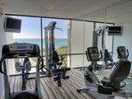 Take full advantage of the exercise room with a marvelous gulf view