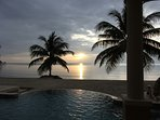 Sunrise over the ocean, taken from just outside the living area