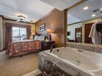 Master Suite Features Oversized Jetted Tub & Steam Shower