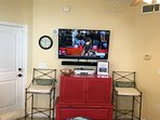 50' HD Smart TV with sound bar and DVD and VCR with WiFi