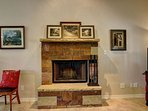 The fireplace makes you feel right at home!