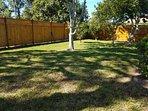 Fenced in yard.