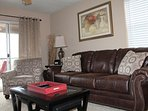 New Premium Sleeper Sofa, Accent Chair, and Matching Pillows