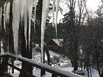Icicles off our deck!!!