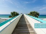 Sky Bridge  to the Beachthat take you to the pristine white sandy beach.