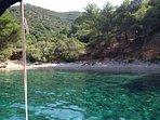 Einsame Bucht auf der Insel Hvar