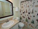 Each private bath has a full tub/shower and hair dryer.