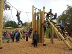 A fantastic children's play park is amongst the many attractions at Ryton Pools 1 mile away