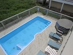 Pool Deck with Hot Tub