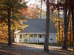 Storybrook Cottage rental in Arkansas.  Gorgeous mountain views with wrap around porch.