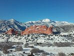 Easy access to the Garden of the Gods park.