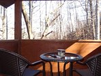 Walk-out balcony from master suite. Take in the natural wooded surroundings and wildlife.