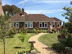 Front of Leythorne Cottage with lovely garden.
