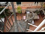 Spiral 1800's authentic stairs for second terrace and smaller bedroom