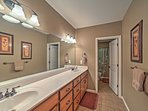 This home boasts 3 full bathrooms.