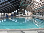 Large Year Round Indoor Pool/Hot Tub available by Welcome Center for our guests