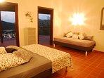 Chambre avec vue sur la baie de Deshaies