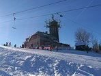 Skiing resort Spicak / Pointed Hill in Tanvald, 20 mins by train near our house