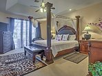 A rejuvenating night of sleep can be found on any of the villa's plush beds.