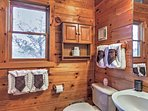 There are 3 full bathrooms in this cozy cabin.