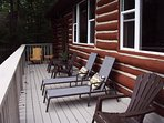 Huge deck with plenty of chairs :)