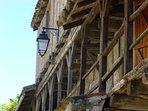 Maisons à colombages à Montpezat-de-Quercy.