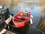 13ft dingy with outboard called Weena - for guests to use
