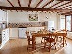 Beech kitchen/dining area