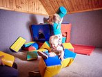 Toddler soft playroom at Newhouse Farm Cottages