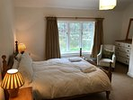 Bedroom One at Riversdale Lodge - with ensuite facilities. Views over the river Wye