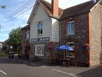 Our village pub, The Green Dragon. Family & dog friendly