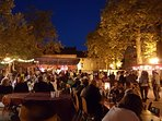 The evening Marché Gourmand held every few weeks during the summer in the centre of the village.