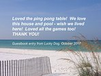 Lucky Dog Guest Book Entry