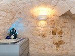 This is a wall in solid stone