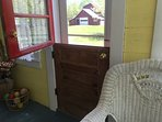 View of the barn from the old Dutch door